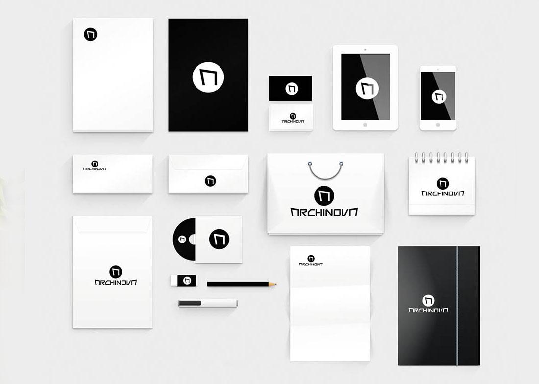 Diseño de aplicaciones de identidad corporativa Archinova Marbella