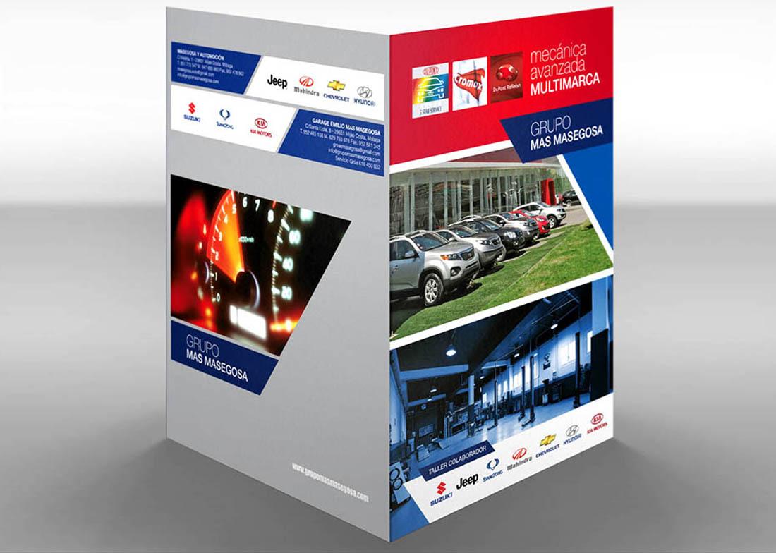 diseño gráfico carpetas corporativas Talleres Grupo Mas Masegosa