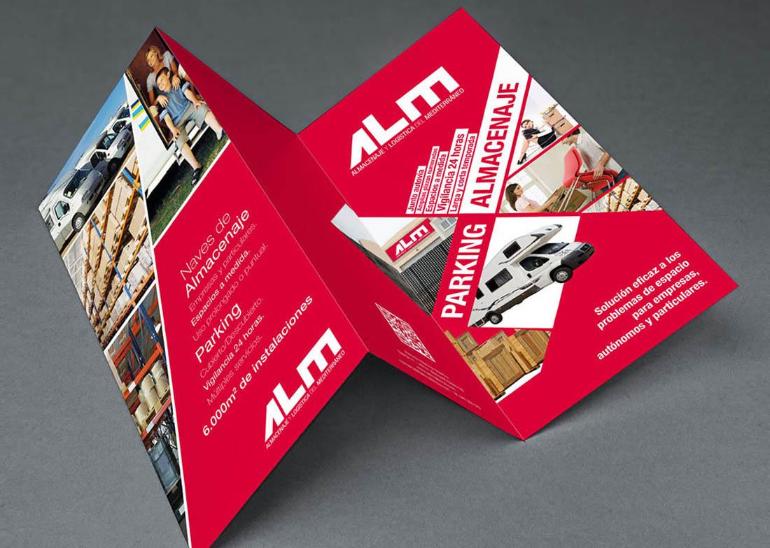 Diseño gráfico de folleto ALM Valencia