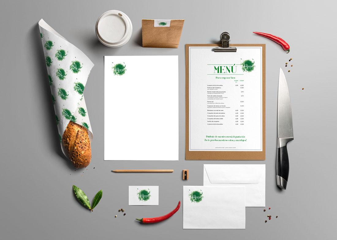 diseño gráfico restaurante fuengirola el toston