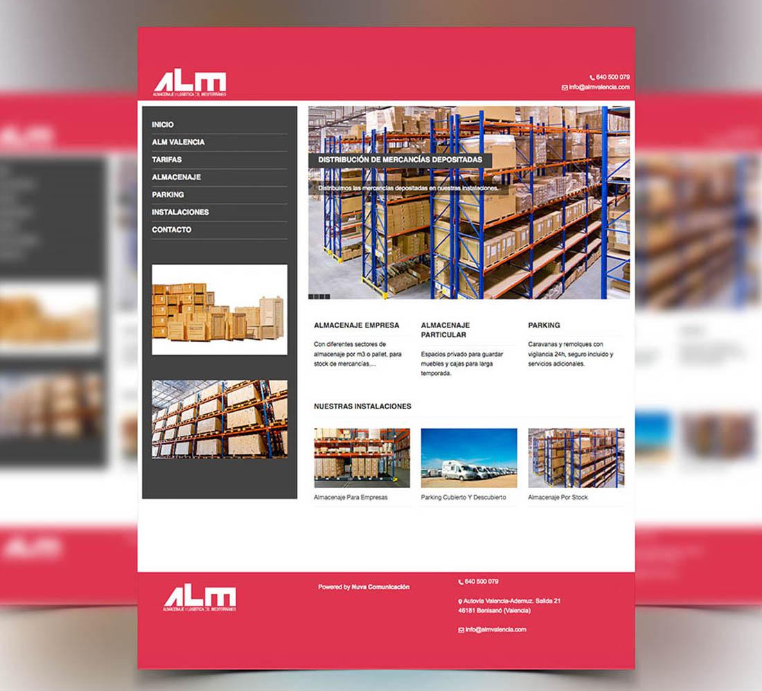 Diseño página web ALM Valencia