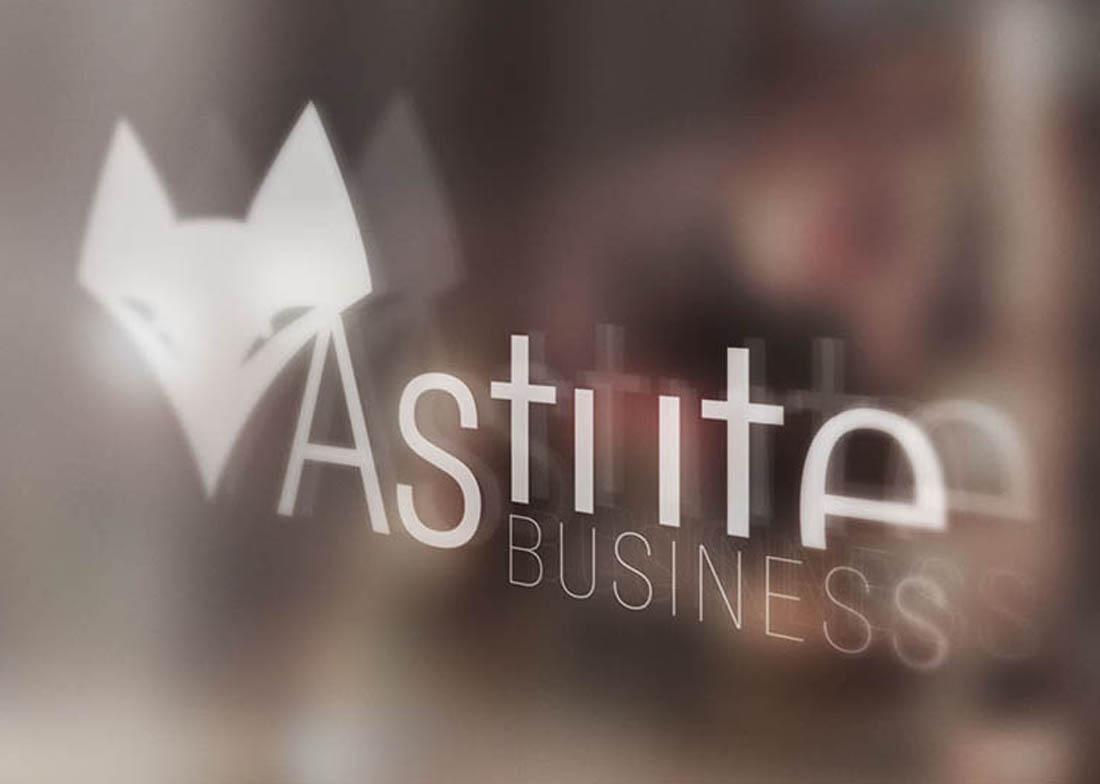 Diseño vinilo cristal Astute Business