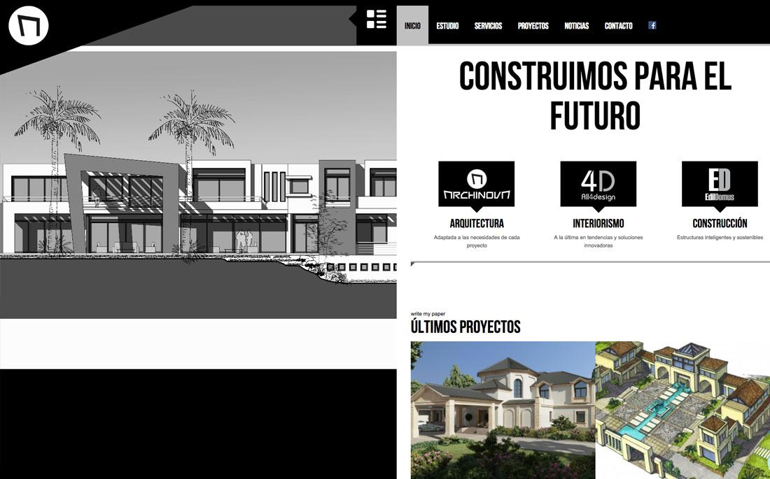 Diseño web Archinova arquitectura Marbella
