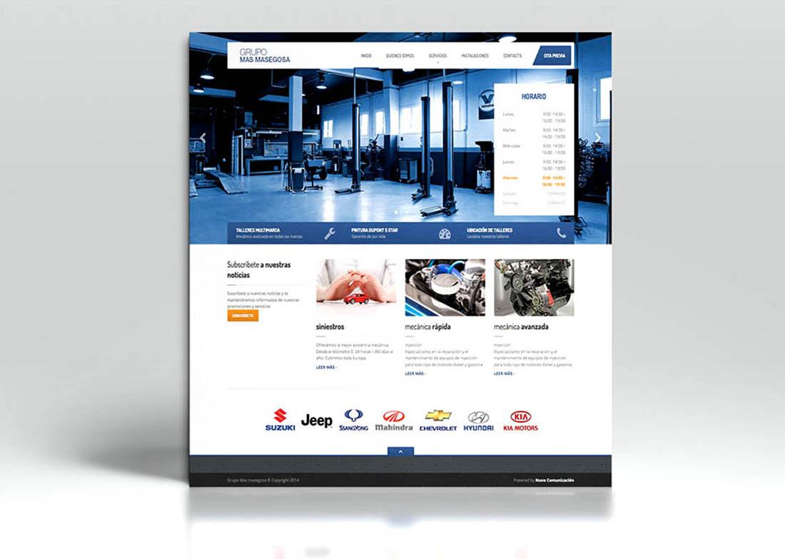 diseño web talleres grupo mas masegosa