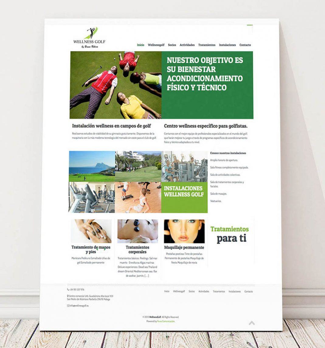 Diseño web Wellness Golf Guadalmina