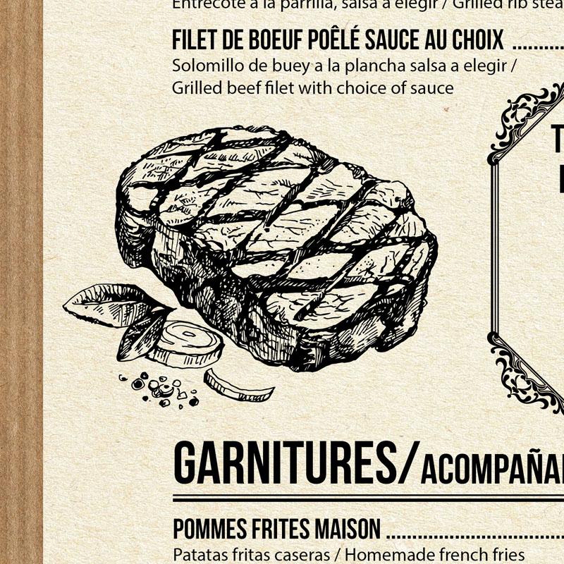 Diseño gráfico carta de restaurante