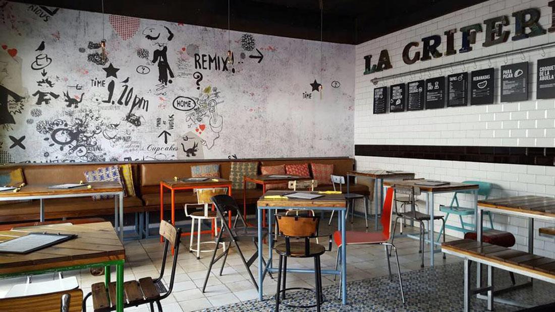 Decoración Restaurante La Grifería