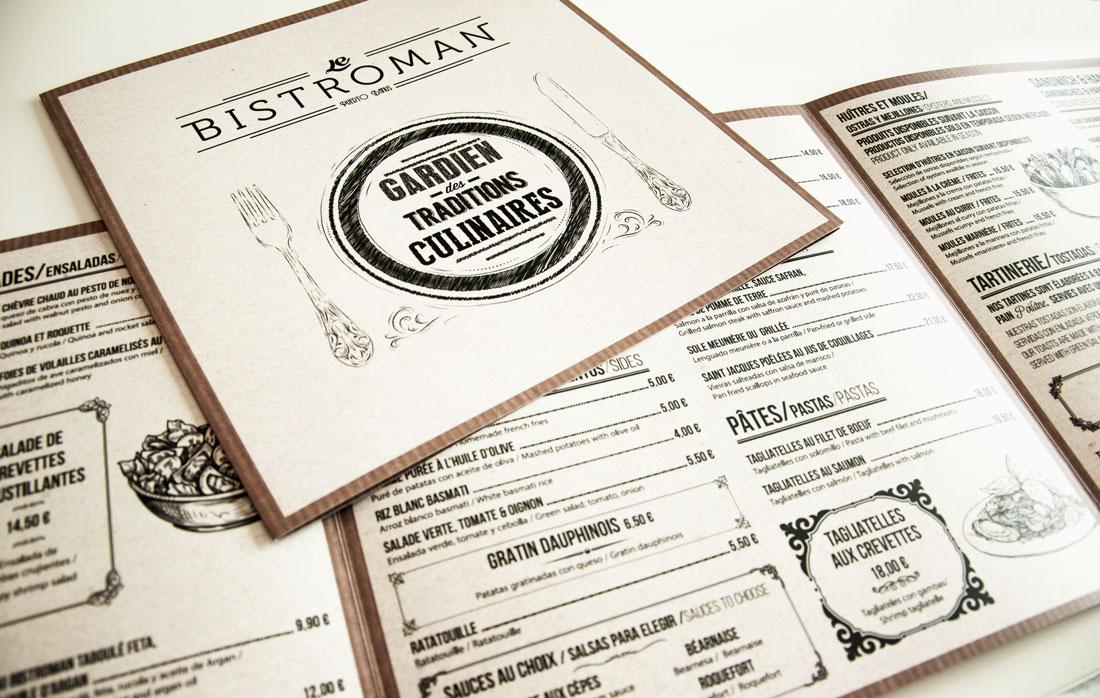 Diseño carta Le Bistroman